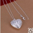 925 SILVER LOVE HEART WOMEN'S NECKLACE – 20 INCH HEART NECKLACE
