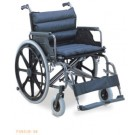 WHEELCHAIR - STEEL / NYLON - UP TO 125KG - EXTRA WIDE
