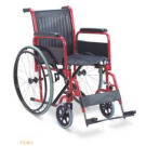 WHEELCHAIR - STEEL / PVC WITH DETACHABLE ARM AND FOOT REST